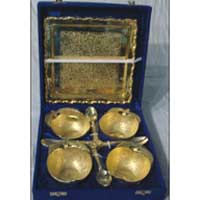 Gold Plated Apple Bowl Set