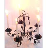 Iron Leaf Candle Holder