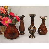 Patina Finish Flower Vase