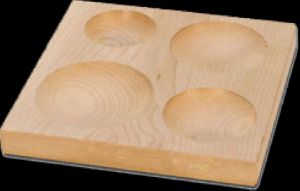4 Cavity Wooden Block Plate