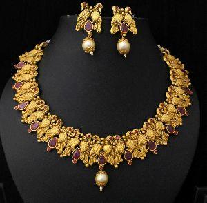 Designer Matte Finish Necklace Set 02