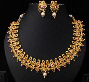 Designer Matte Finish Necklace Set 05