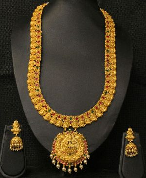 Matte Finish Temple Necklace Set 01