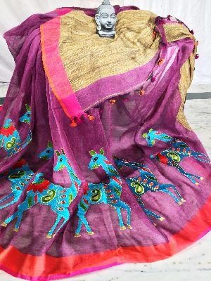 Resham Embroidery Saree 03