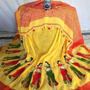Resham Embroidery Saree 04
