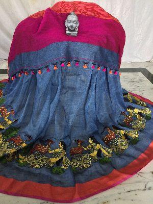 Resham Embroidery Saree 05