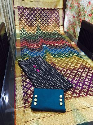 Unstitched Pure Banarasi Dupatta Suit 01