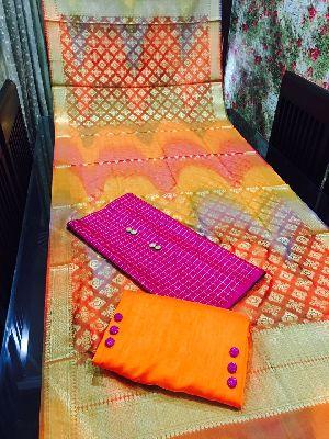Unstitched Pure Banarasi Dupatta Suit 02