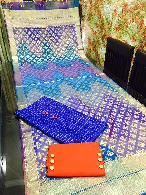 Unstitched Pure Banarasi Dupatta Suit 04