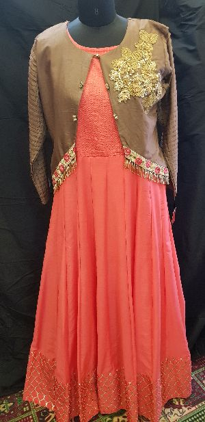 Gown with jacket