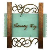 Glass Name Plate Designing