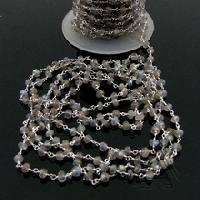 Labradorite Faceted Rondelle Beaded Link Chain