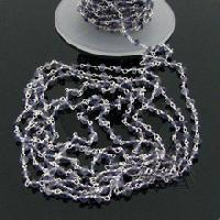 Iolite Faceted Beaded Link Chain