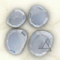 Rainbow Moonstone Irregular Rose Cut Gemstones