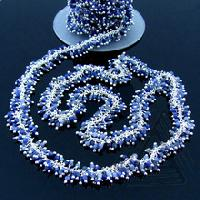 Sodalite Smooth Round Beaded Cluster Chain Jewelry