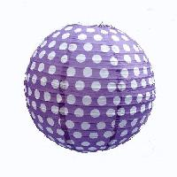 Polka Dots Paper Lanterns 14 - Purple