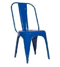 Dark Blue Color Metal Chair