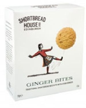 Shortbread Biscuits with Ginger Bites