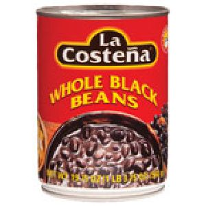 WHOLE BLACK BEANS HARICOTS NOIRS ENTIERS