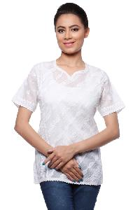 Ladies Lucknowi Short Kurti (000023)