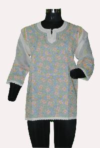 Ladies Lucknowi Short Kurti (10558)
