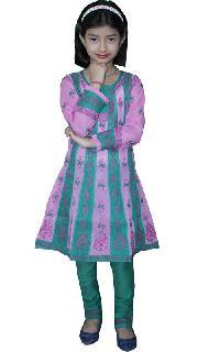 Girls Lucknowi Anarkali Suit (017)
