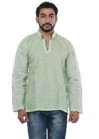 Mens Lucknowi Short Kurta (20113)