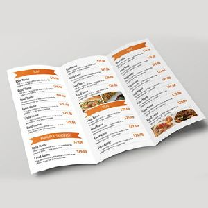 Menu Card Design Service