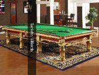 Bailey Gold Billiards Table In Steel Block Cushions