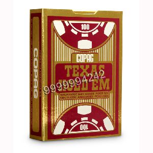 Copag Texas Hold'em Red Black Gambling Props Cards
