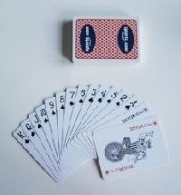 plastic playing card