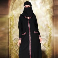 Black Burqa Fabric