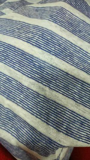YS10032 Linen Polyester Yarn Dyed Stripe Jersey Fabric