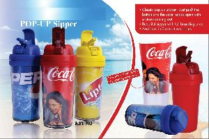 Promotional Pop Up Sipper Bottles