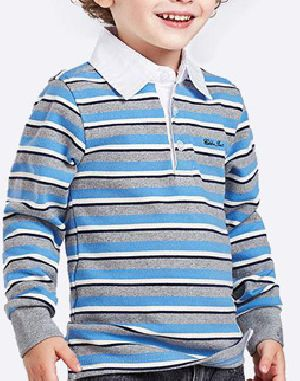 Boys Designer Full Sleeve Polo T-Shirts