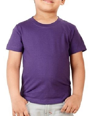 Boys Plain Half Sleeve Round Neck T-Shirts