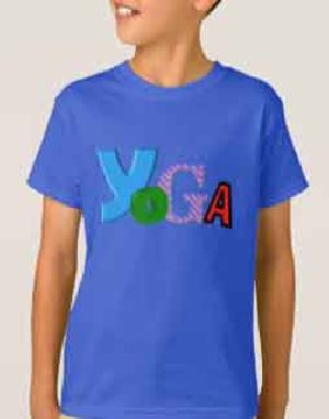 Boys Round Neck Yoga T-Shirts