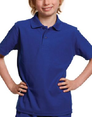 Girls Plain Half Sleeve Polo T-Shirts