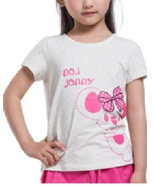 Girls Printed Half Sleeve Round Neck T-Shirts