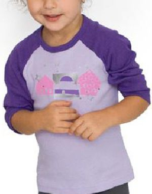 Girls Raglan Round Neck T-Shirts