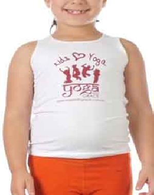 Girls Round Neck Yoga T-Shirts