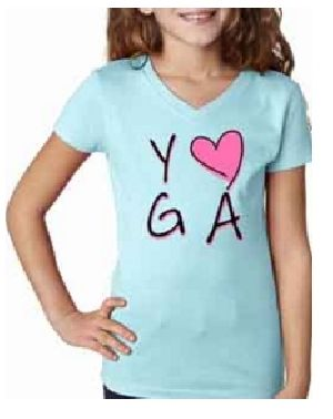 Girls V Neck Yoga T-Shirts