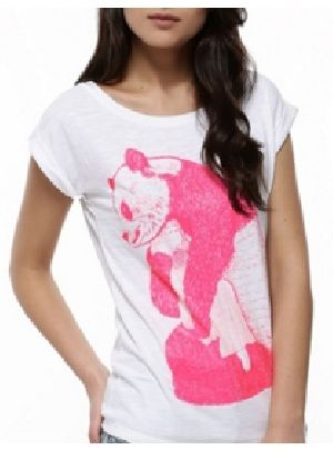 Ladies Printed Half Sleeve Round Neck T-Shirts