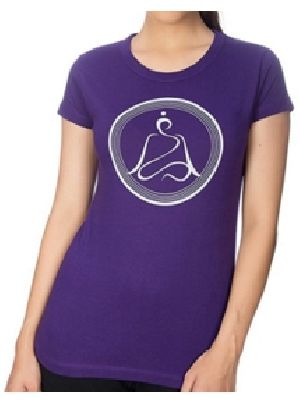 Ladies Round Neck Yoga T-Shirts