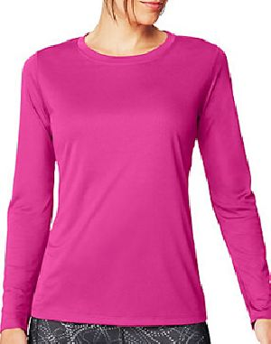 Ladies Sports Full Sleeve Round Neck T-Shirts