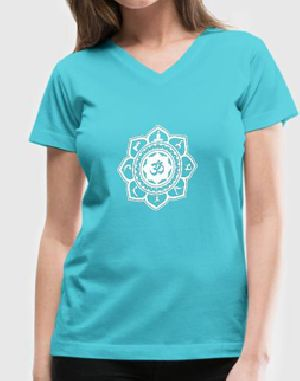 Ladies V Neck Yoga T-Shirts