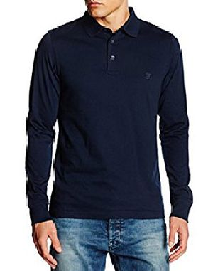Mens Plain Full Sleeve Polo T-Shirts