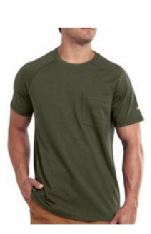 Mens Plain Half Sleeve Round Neck T-Shirts