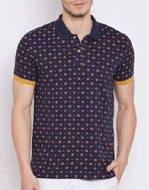 Mens Printed Polo T-Shirts