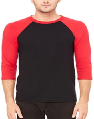 Mens Raglan Full Sleeve Round Neck T-Shirts